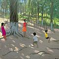 Tree Swing Print by Andrew Macara