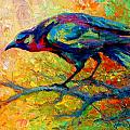 Tree Talk - Crow Poster by Marion Rose