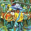 Treme Brass Band Print by Dianne Parks