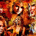 Tribute to Taylor Swift Print by Alex Martoni