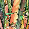 Tropical Bamboo Poster by Marionette Taboniar
