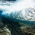 Tropical Wave Curl Poster by Dave Fleetham - Printscapes