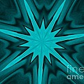 Turquoise Star Poster by Marsha Heiken