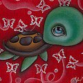 Turtle Print by  Abril Andrade Griffith