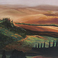 Tuscan Hills Print by Elise Okrend