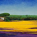 Tuscan Landcape Poster by Trevor Neal