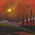Tuscan Sunset Rage Poster by ITALIAN ART- Angelica