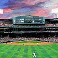 Twilight at Fenway Park Print by Jack Skinner