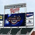 Twins Home Opener 2010 Poster by Ron Read