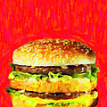 Two All Beef Patties Print by Wingsdomain Art and Photography