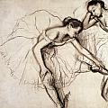 Two Dancers Resting Print by Edgar Degas