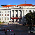 UC Berkeley . Sproul Hall . Sproul Plaza . Occupy UC Berkeley . 7D10004 Print by Wingsdomain Art and Photography
