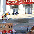 UC Berkeley . Sproul Hall . Sproul Plaza . Occupy UC Berkeley . The Is Just The Beginning . 7D10018 Poster by Wingsdomain Art and Photography