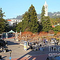 UC Berkeley . Sproul Hall . Sproul Plaza . Sather Gate and Sather Tower Campanile . 7D10016 Poster by Wingsdomain Art and Photography