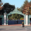 UC Berkeley . Sproul Plaza . Sather Gate . 7D10020 Print by Wingsdomain Art and Photography