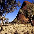 Uluru, Ayres Rock Against A Clear Blue Poster by Jason Edwards