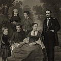 Ulysses S. Grant With His Family When Poster by Everett