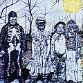Under a Halloween Moon Poster by Michael Lee Summers