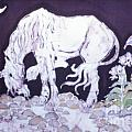 Unicorn Pauses Poster by Carol  Law Conklin