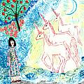 Unicorns come home Poster by Sushila Burgess