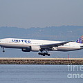 United Airlines Jet Airplane . 7D11794 Print by Wingsdomain Art and Photography
