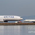 United Airlines Jet Airplane At San Francisco International Airport SFO . 7D12081 Print by Wingsdomain Art and Photography