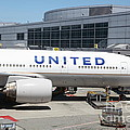 United Airlines Jet Airplane at San Francisco SFO International Airport - 5D17109 Print by Wingsdomain Art and Photography