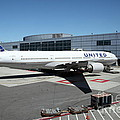 United Airlines Jet Airplane at San Francisco SFO International Airport - 5D17114 Print by Wingsdomain Art and Photography