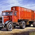 United Dairies Scammell. Poster by Mike  Jeffries