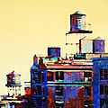 Urban Rooftops Print by Patti Mollica