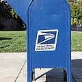 US Mail Box . 5D18813 Poster by Wingsdomain Art and Photography