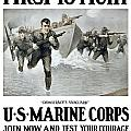 US Marine Corps First To Fight  Poster by War Is Hell Store