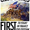US Marines First To Fight In France Poster by War Is Hell Store
