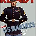 US Marines Ready Poster by War Is Hell Store