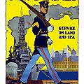 U.S. Marines Service On Land And Sea Poster by War Is Hell Store