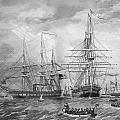 U.S. Naval Fleet During The Civil War Print by War Is Hell Store