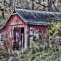 US61 Barn Print by Georgeann  Chambers