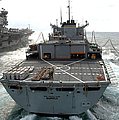 Usns Supply Conducts A Replenishment Print by Stocktrek Images