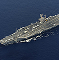 Uss Abraham Lincoln Transits The Indian Print by Stocktrek Images