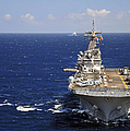 Uss Boxer Leads A Convoy Of Ships Print by Stocktrek Images
