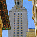 UT University of Texas Tower Austin Texas Poster by Jeff Steed