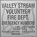 VALLEY STREAM FIRE DEPARTMENT in BLACK AND WHITE Poster by ROB HANS