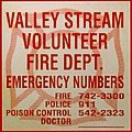 VALLEY STREAM FIRE DEPARTMENT Poster by ROB HANS