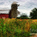 Van Gogh at the barn Print by David Bearden