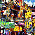 Van Gogh Meets Up With The Screamer in San Francisco Chinatown . 7D7174 Print by Wingsdomain Art and Photography