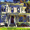 Van Gogh Visits The Old Victorian Camron-Stanford House in Oakland California . 7D13440 Poster by Wingsdomain Art and Photography