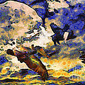 Van Gogh.s Flying Pig by Wingsdomain Art and Photography