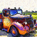 Van Gogh.s Rusty Old Jalopy . 7D15500 Print by Wingsdomain Art and Photography