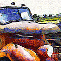 Van Gogh.s Rusty Old Truck . 7D15509 Poster by Wingsdomain Art and Photography