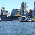 Vancouver BC skyline Canada Place panorama Canada. Poster by Gino Rigucci